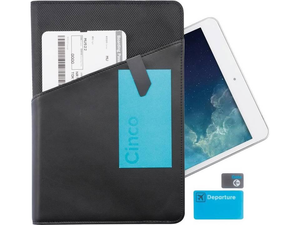 Universele lederen tablet houder 7 - 8 inch van Komo bedrukken
