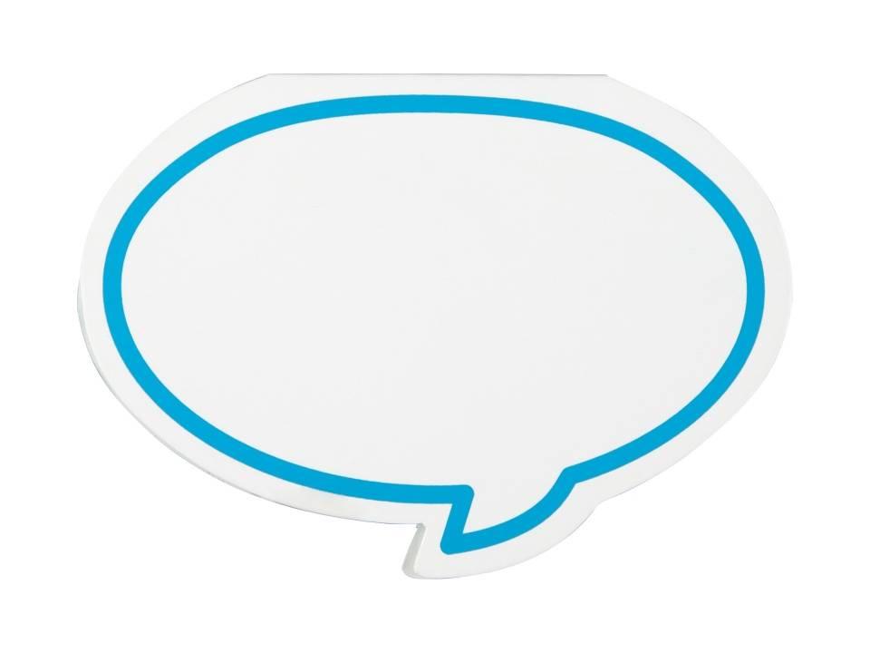 Zelfklevende memo's in vorm van tekst ballon bedrukken