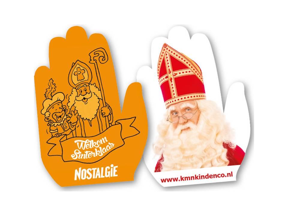 Zwaaihanden voor Sinterklaas