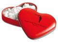Hartenblikje Valentijn met hart pepermuntjes