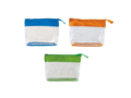Toiletry bag transparant with coloured band 4