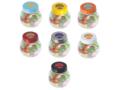Klein glazen potje gevuld met jelly beans 8