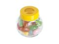 Klein glazen potje gevuld met jelly beans 6