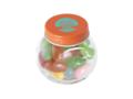 Klein glazen potje gevuld met jelly beans 7