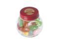 Klein glazen potje gevuld met jelly beans 5