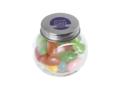 Klein glazen potje gevuld met jelly beans 4