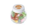 Klein glazen potje gevuld met jelly beans 3