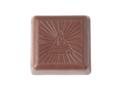 Bonbon chocolat sous feuille dorée avec quadrichromie sur bande 2