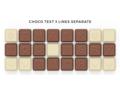 Chocoladetekst in gepersonaliseerde enveloppe - 24 letters 1