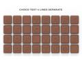 Chocoladetekst in gepersonaliseerde enveloppe - 32 letters 1