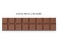 Chocoladetekst in gepersonaliseerde enveloppe - 16 letters 2