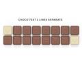Chocoladetekst in gepersonaliseerde enveloppe - 16 letters 1