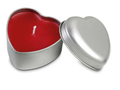 Heart shape candle in tin box  1