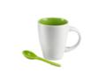 Keramisch koffiemok met lepel - 250 ml 4