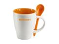 Keramisch koffiemok met lepel - 250 ml 10