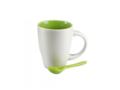Keramisch koffiemok met lepel - 250 ml 5