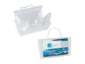 Mini clear bag filled with heart-shaped mints