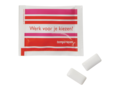 Little bag with 2 pieces of chewing gum sugar free