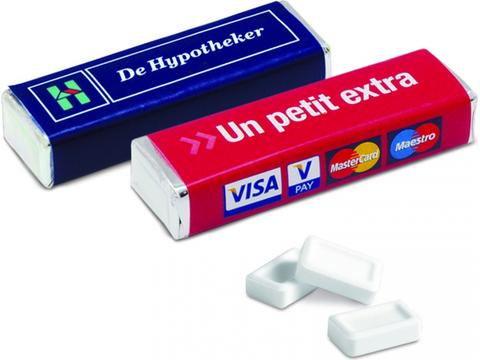 Rectangular pack 12 peppermints tablets