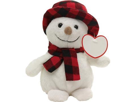 Pluche sneeuwpop
