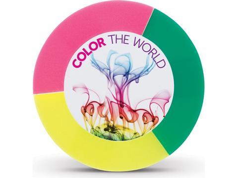 Surligneur rond 3 couleurs
