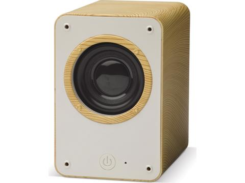Draadloze speaker in houtlook