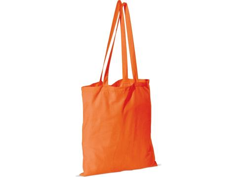 Cotton shoulder bag long handles