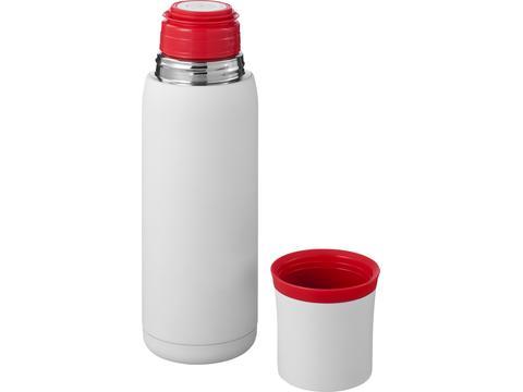 Flow vacuum insulating flask