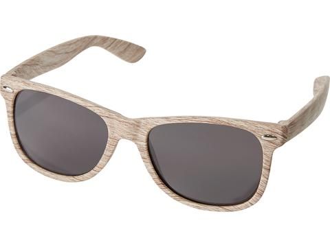 Retro design zonnebril in houtlook