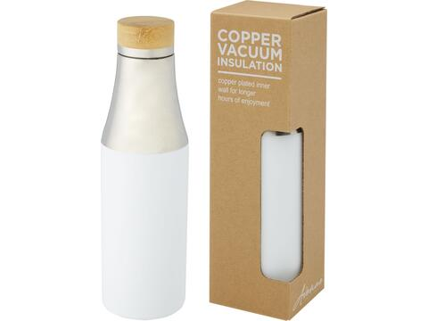 Hulan 540 ml copper vacuum insulated stainless steel bottle with bamboo lid