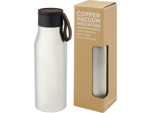 Ljungan koperen vacuüm geïsoleerde roestvrijstalen fles met band en deksel - 500 ml