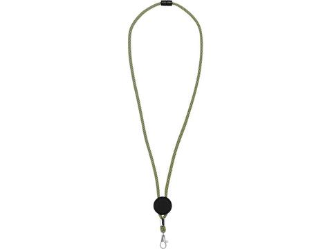 Hagen two-tone lanyard with adjustable disc