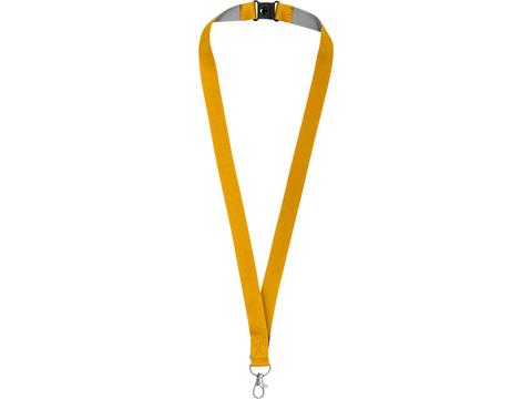 Aru two-tone lanyard with velcro closure