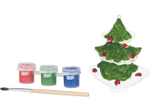 Schilder een kerstboom