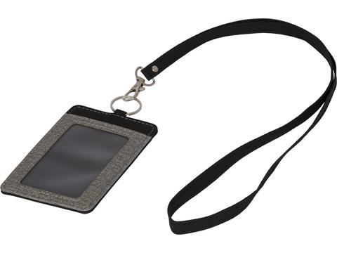 Heathered badge holder set