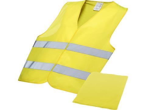 Gilet de sécurité jaune avec étui