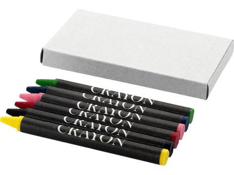 6 Pieces Wax Crayons