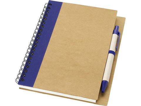 Gerecycled notitieboek met pen