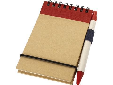 Gerecycled flip-over notitieboekje met pen