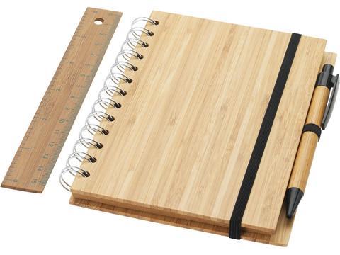 Bamboe notitieboek set