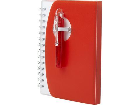 Notitieboek met mini balpen
