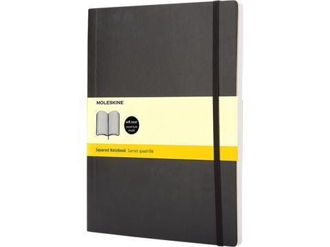 Classic XL soft cover notitieboek - ruitjes