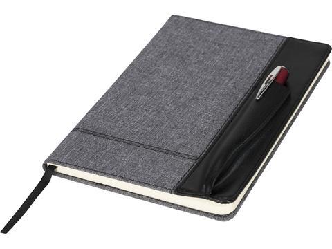 Heathered notitieboek met kunstlederen kaft