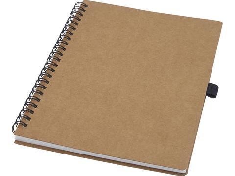 Cobble A5 wire-o gerecycled kartonnen notitieboek met steenpapier