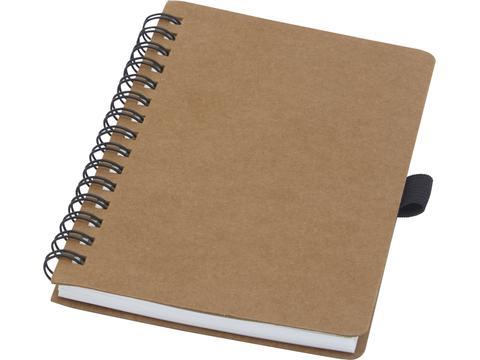 Cobble A6 wire-o gerecycled kartonnen notitieboek met steenpapier