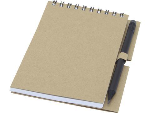 Luciano Eco ringband notitieboek met potlood - klein