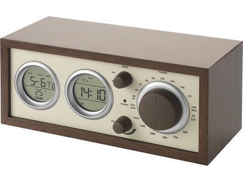 Klassieke houten radio