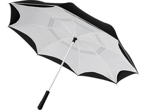 """Yoon 23"""" binnenstebuiten gekeerde rechte paraplu met frisse kleuren"""