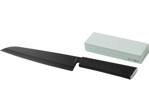 Couteau de chef et pierre à aiguiser Element