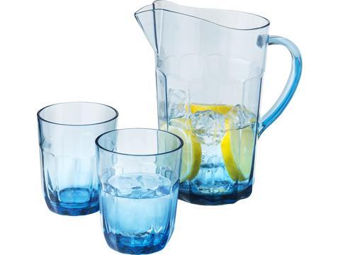 Waterkan met 2 glazen - 2x 400 ml